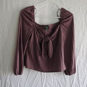Wild Fable Purple Bow Crop Top (XL)